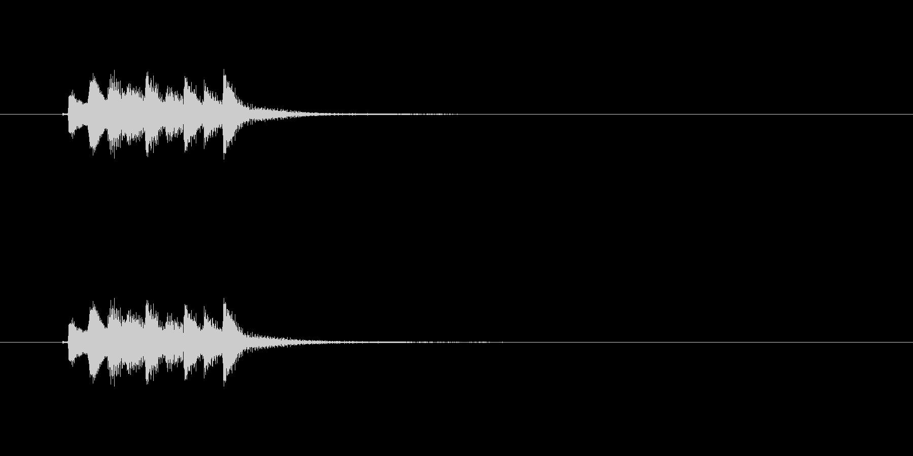 和風効果音 琴4の未再生の波形