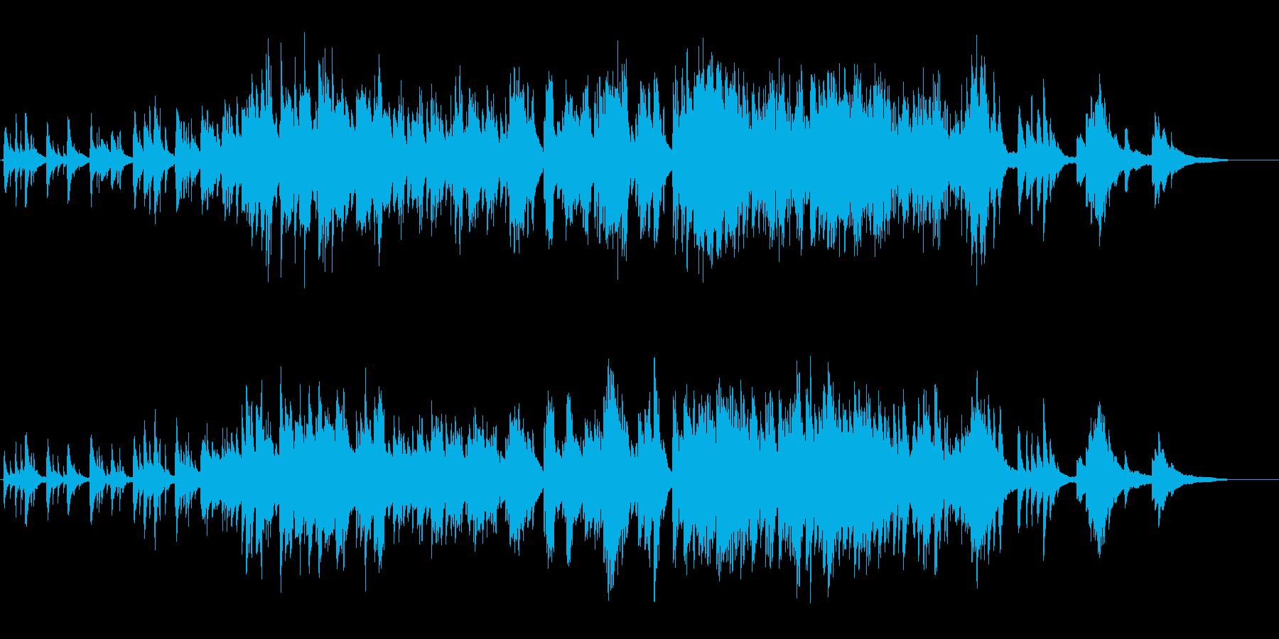 生ピアノで奏でる美しい日本の歌:たなばたの再生済みの波形