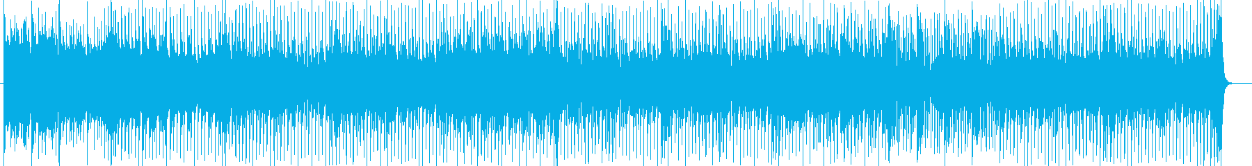 近未来的なハウスミュージックの再生済みの波形