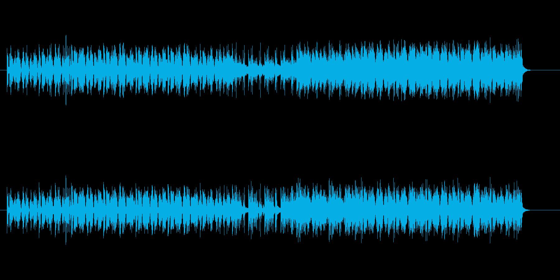 ユーモラスでおぼえやすい明るいメロディーの再生済みの波形