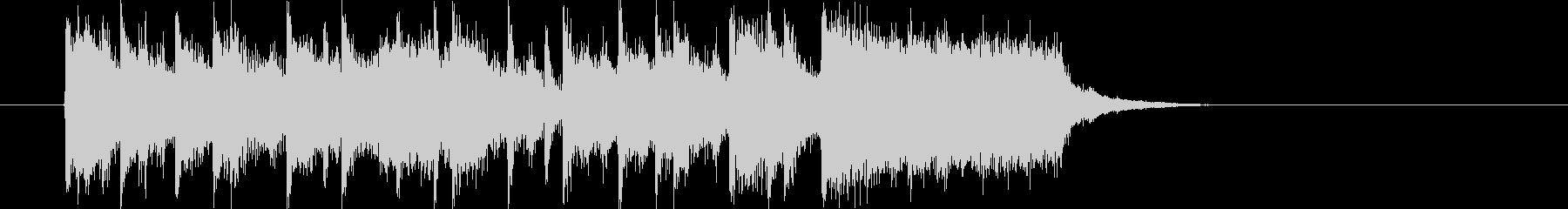 アップテンポでポップなイントロの未再生の波形