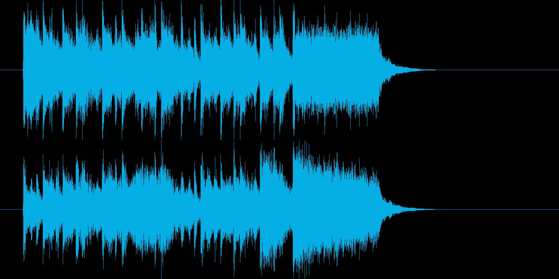 アップテンポでポップなイントロの再生済みの波形