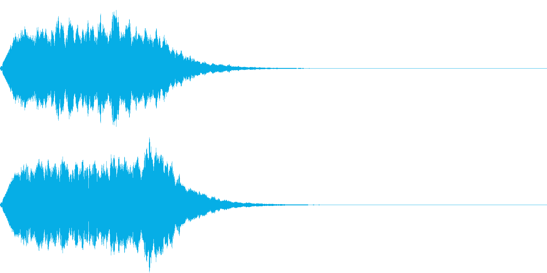 TVSFX 放送向け目立たせSEの再生済みの波形