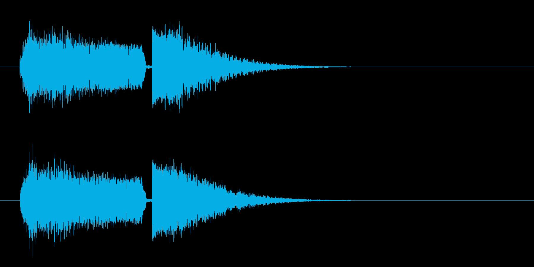 シュワーキーン インパクト音 ロゴの再生済みの波形