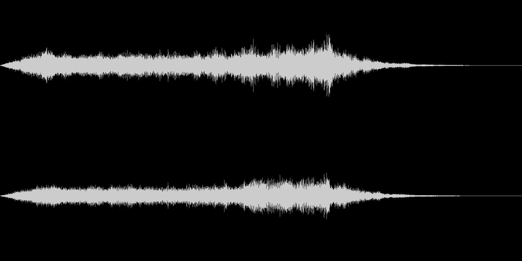 スペイシーな空間音 Eメジャーの未再生の波形