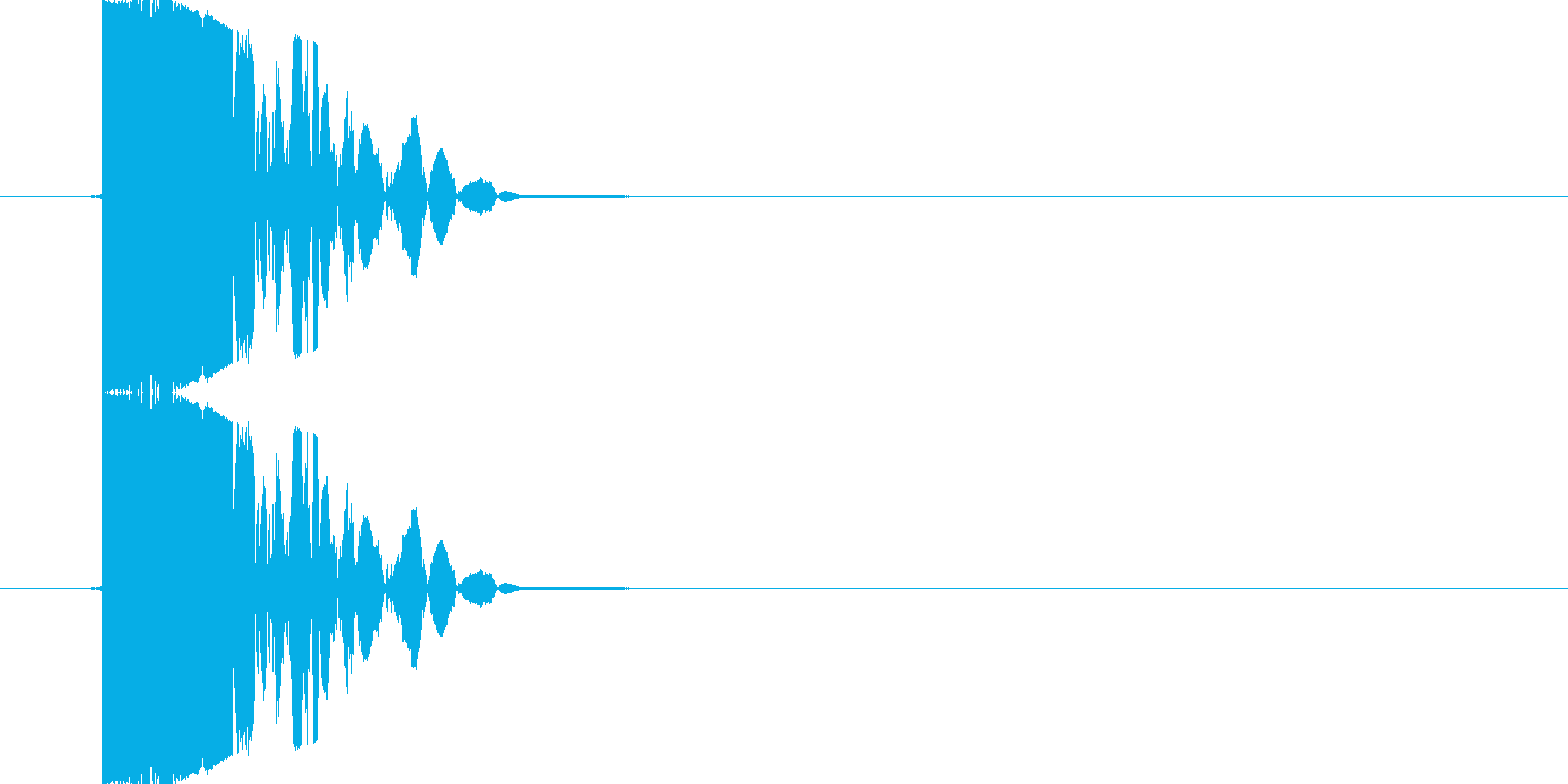 【SE】打撃音(パンチ05)の再生済みの波形