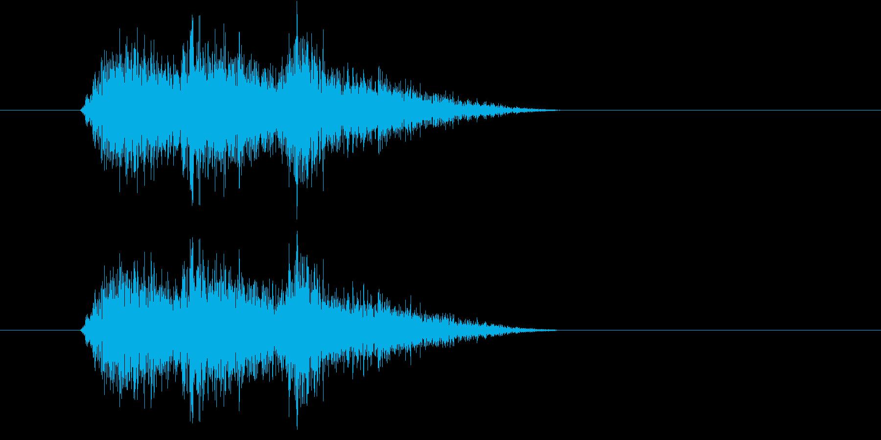シャシャシャ(スナック菓子の袋)の再生済みの波形