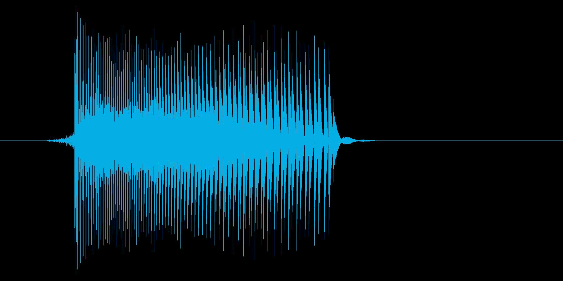 ゲーム(ファミコン風)レーザー音_021の再生済みの波形