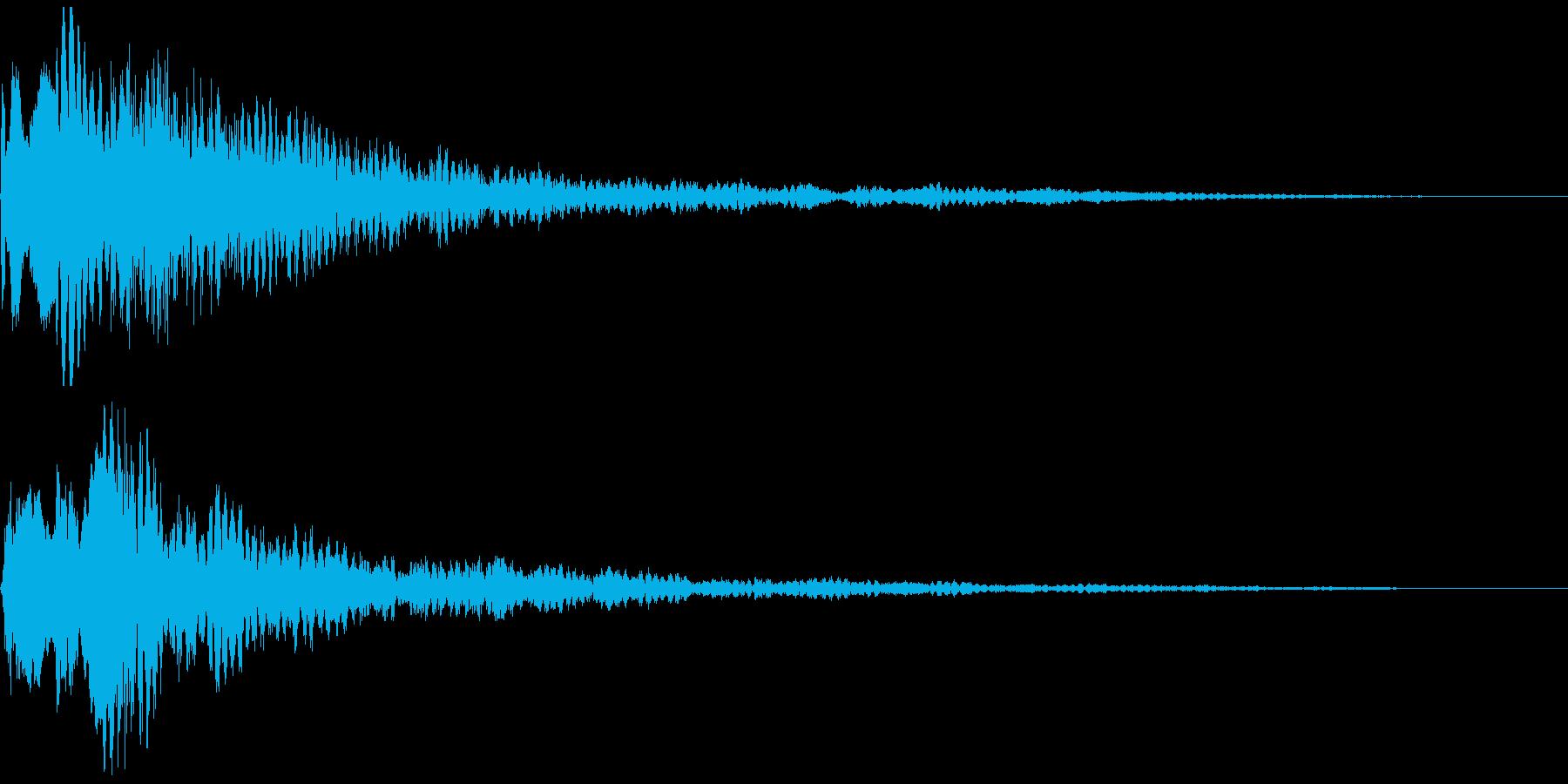 テレレン ハッとした瞬間の効果音の再生済みの波形