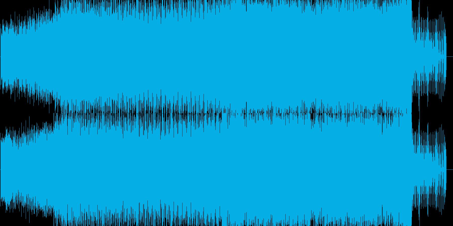 キラキラした明るいテクノの再生済みの波形