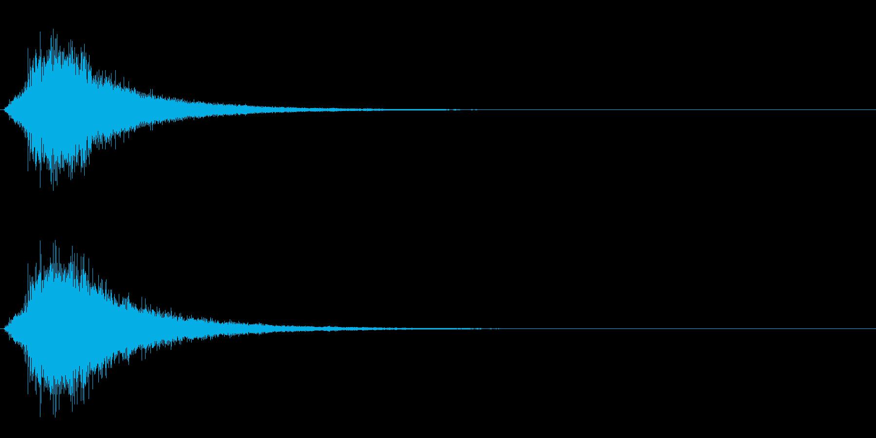 バイクの通りすぎる音~ブーン~の再生済みの波形