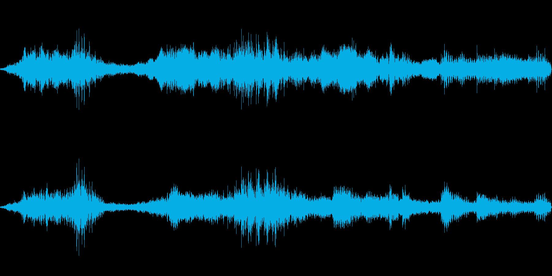 お掛け屋敷・ホラー系 背景音の再生済みの波形