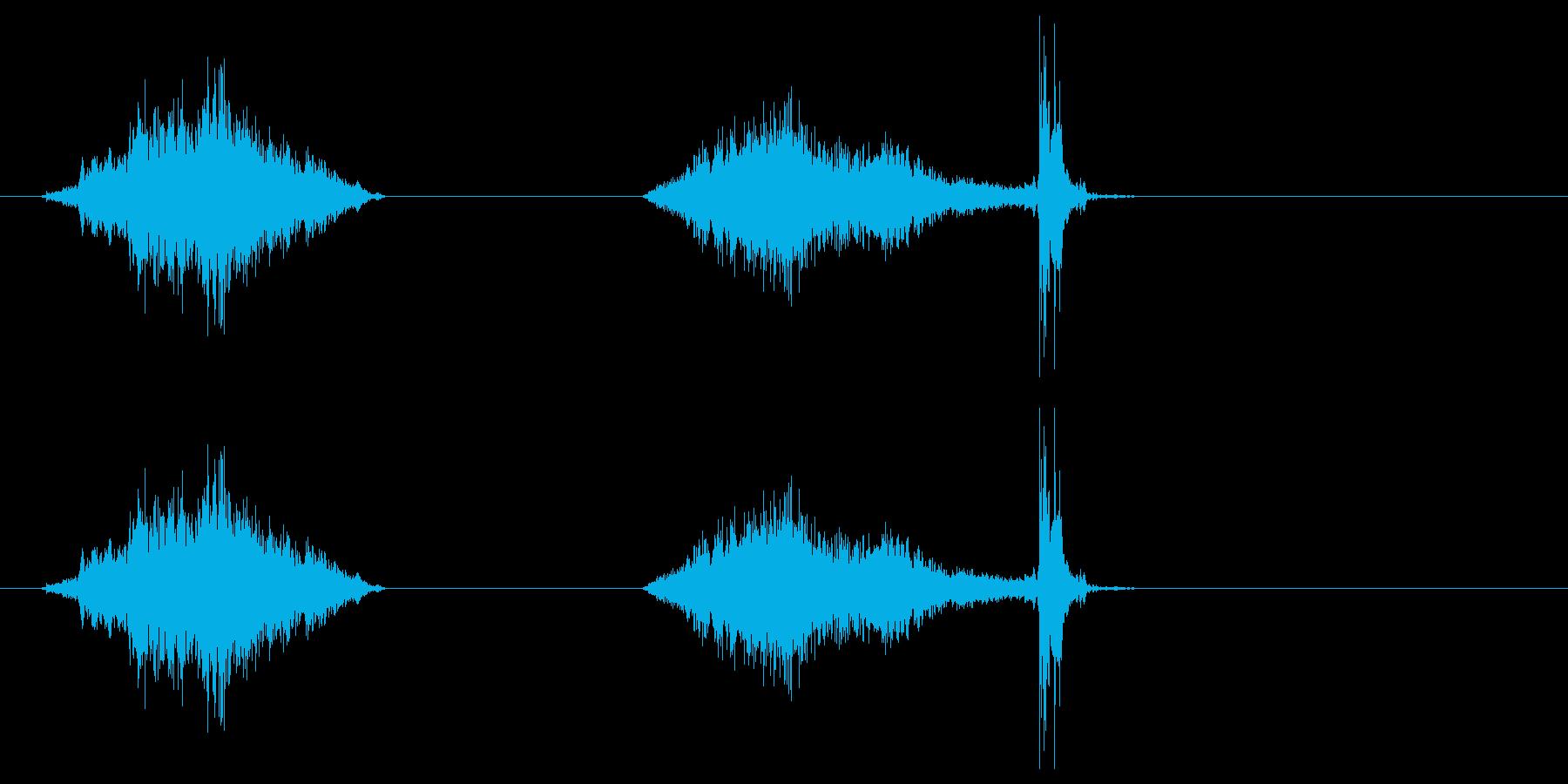 襖・障子の開閉(普通)の再生済みの波形