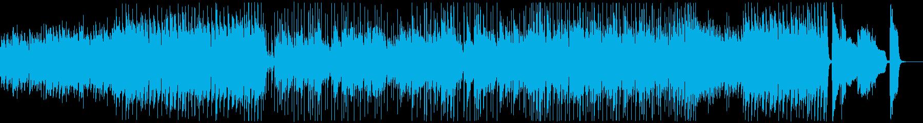 勢いのあるピアノメインのジャズロックの再生済みの波形