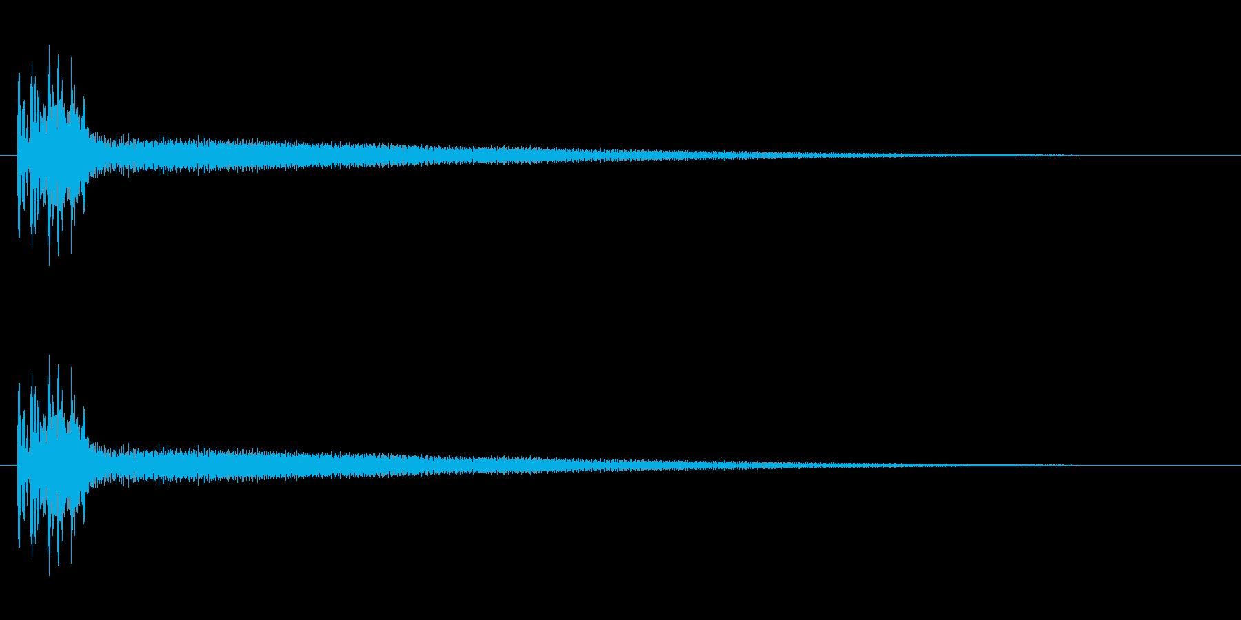 弦の倍音がきれいです。長めのポロロ~ンの再生済みの波形