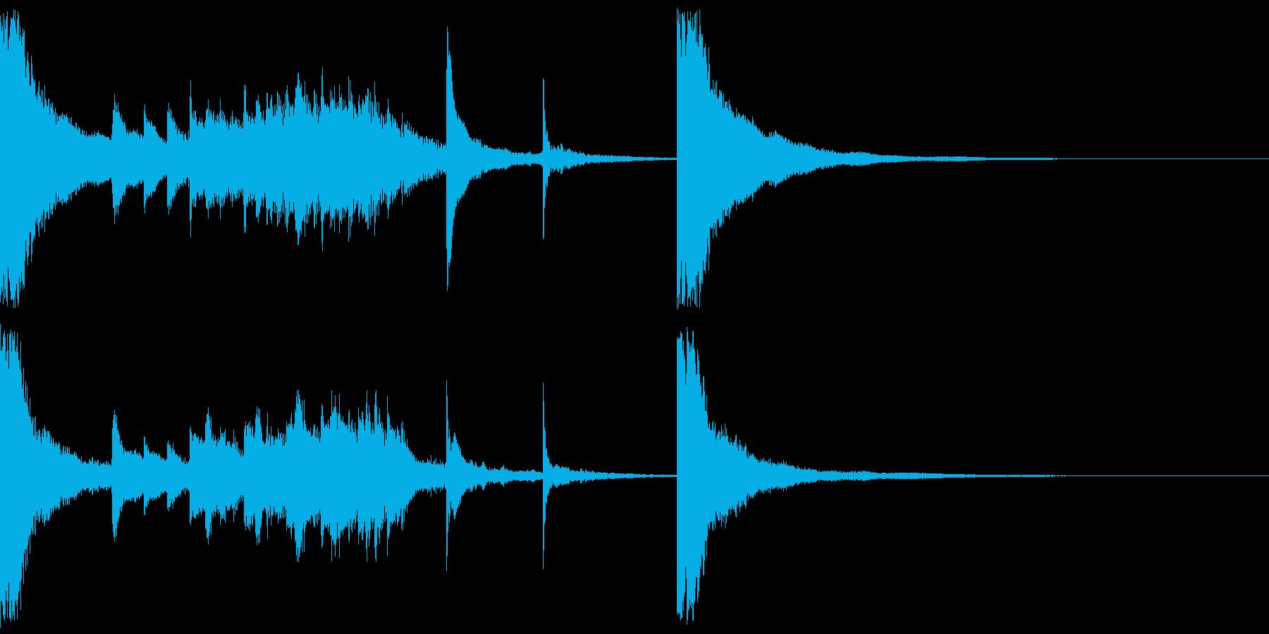 アイキャッチ系の和風曲の再生済みの波形