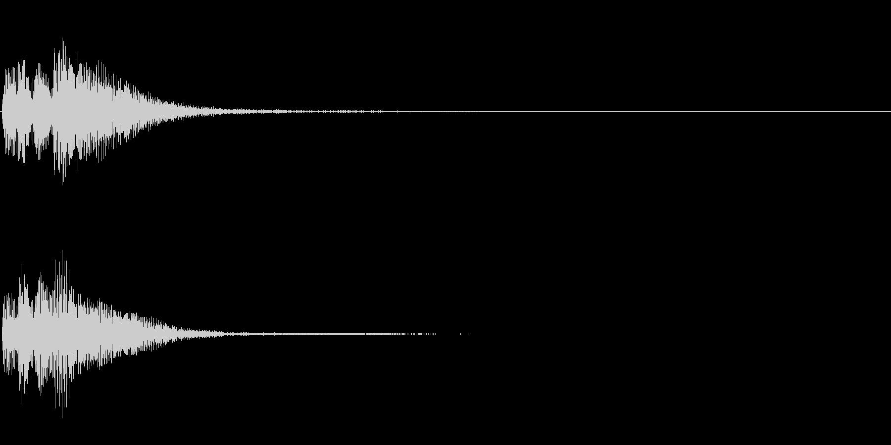 ピアノ SE08の未再生の波形