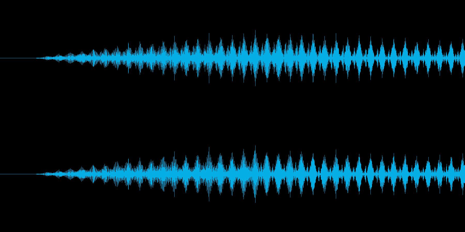 回復音の再生済みの波形