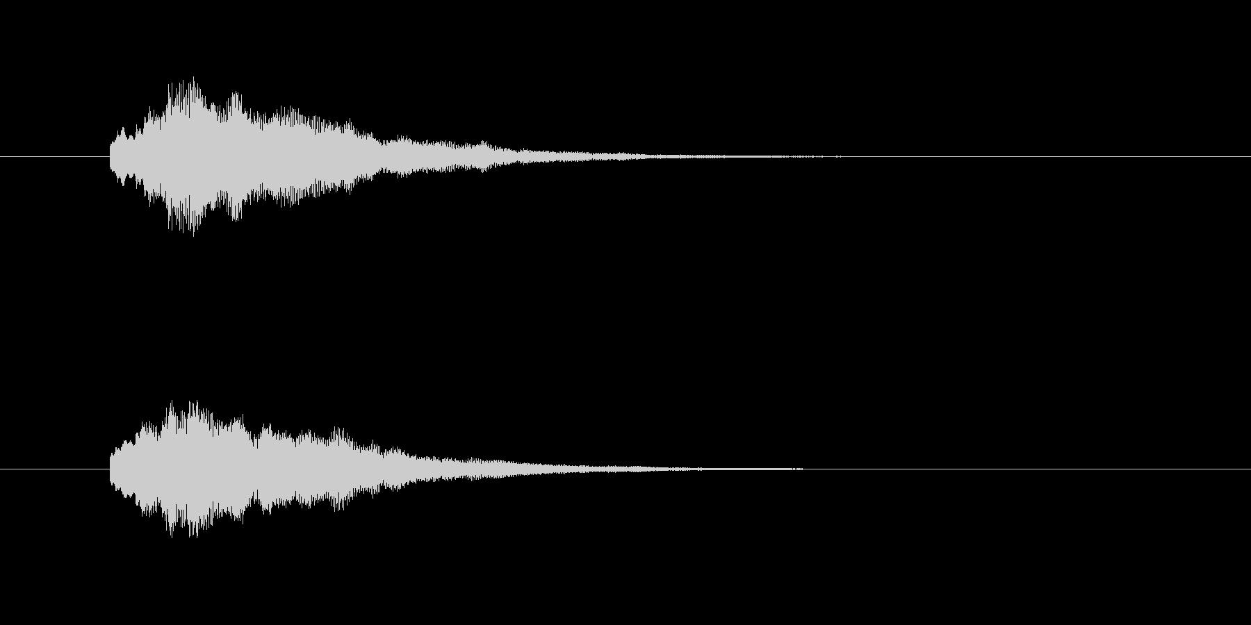 「たららら〜ん」決定音です。の未再生の波形
