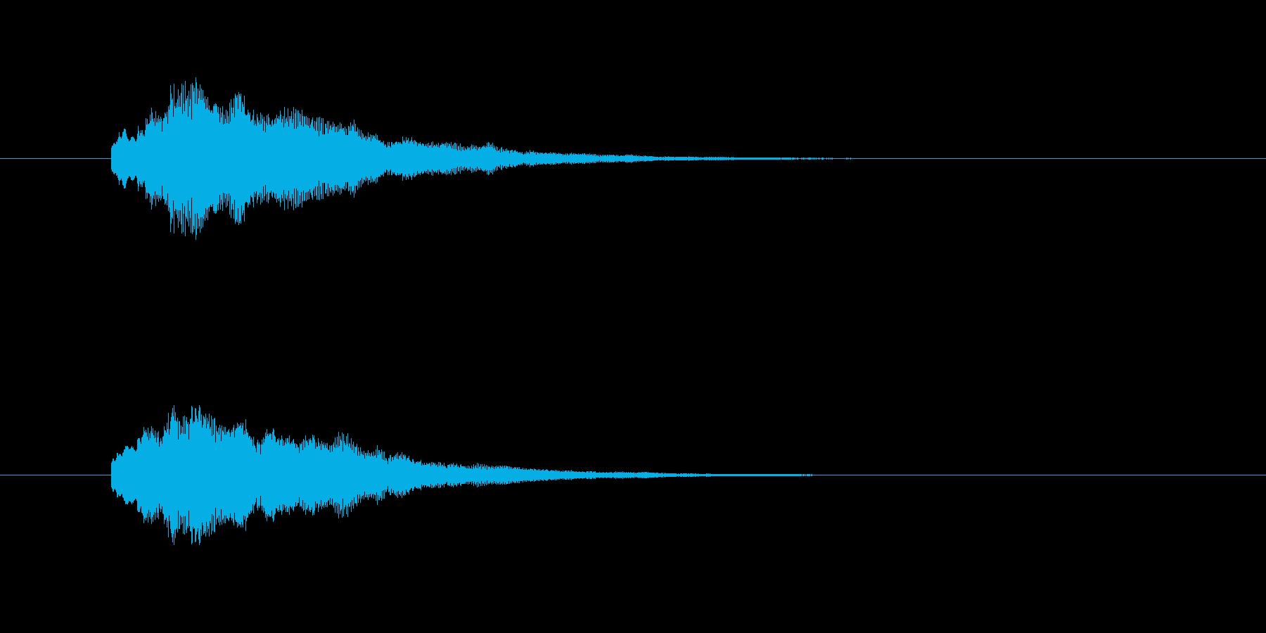 「たららら〜ん」決定音です。の再生済みの波形