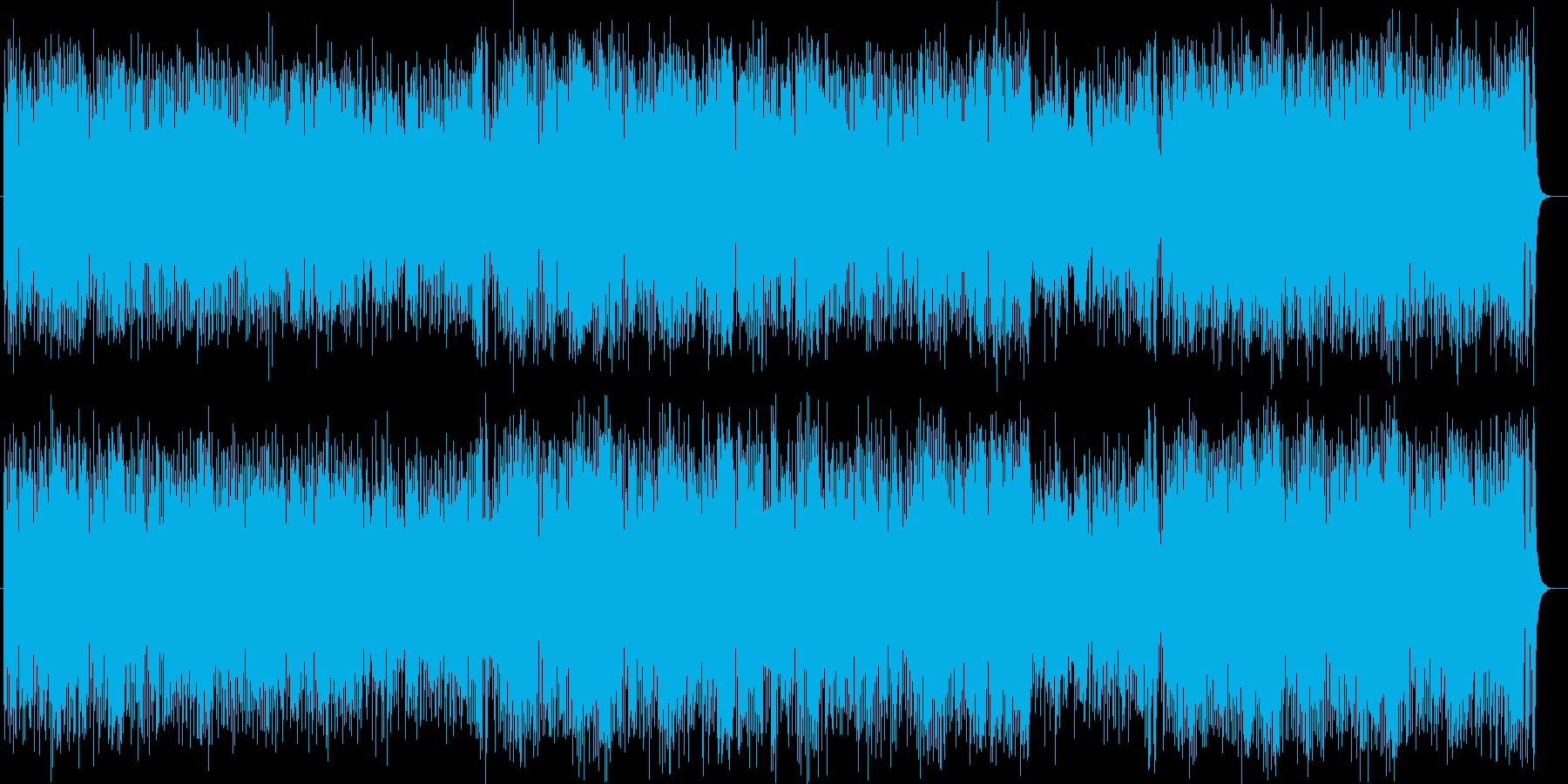 明るく勢いありシンセ・ドラムのサウンドの再生済みの波形