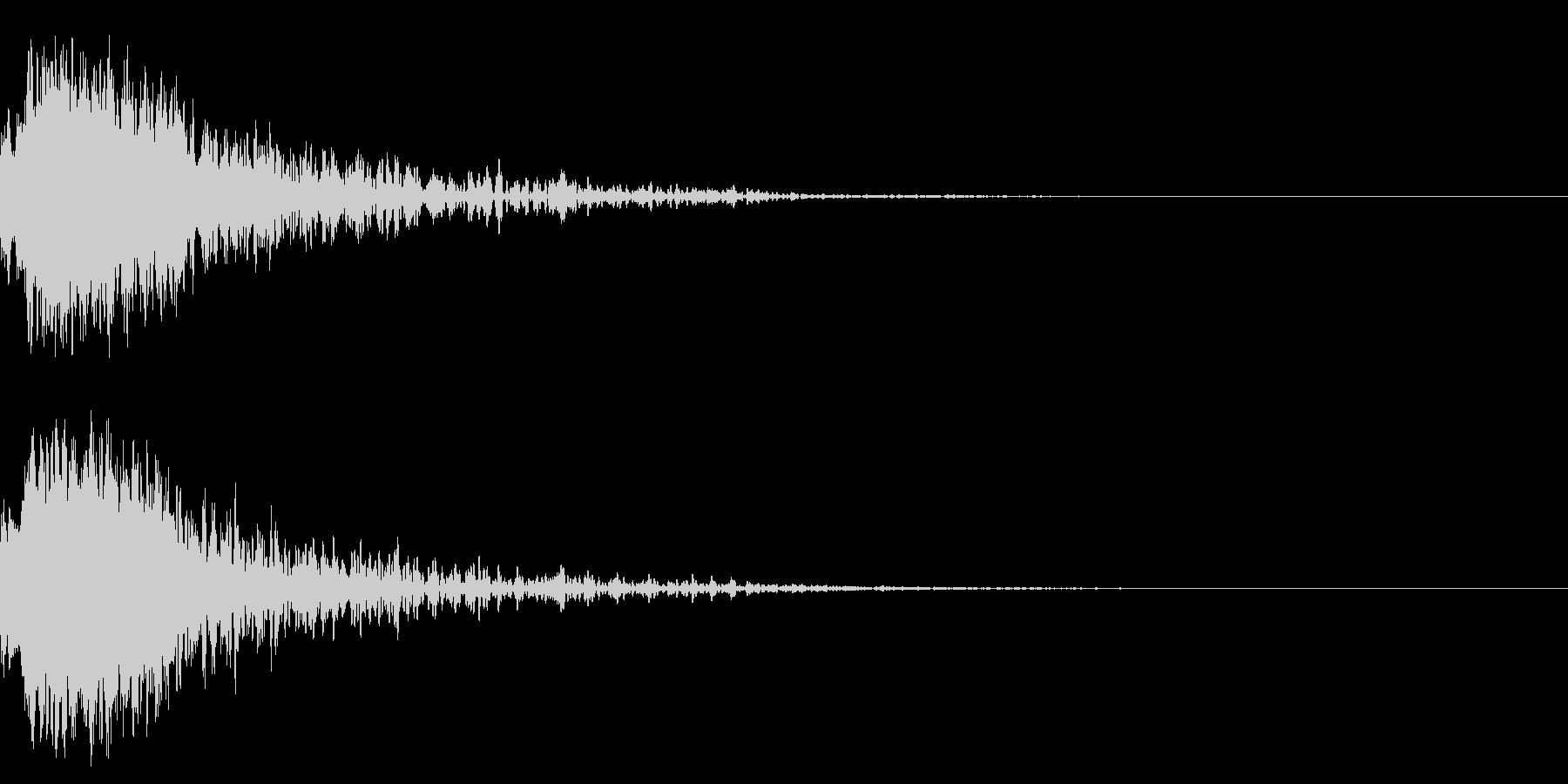 効果音 和風キラーン 2の未再生の波形