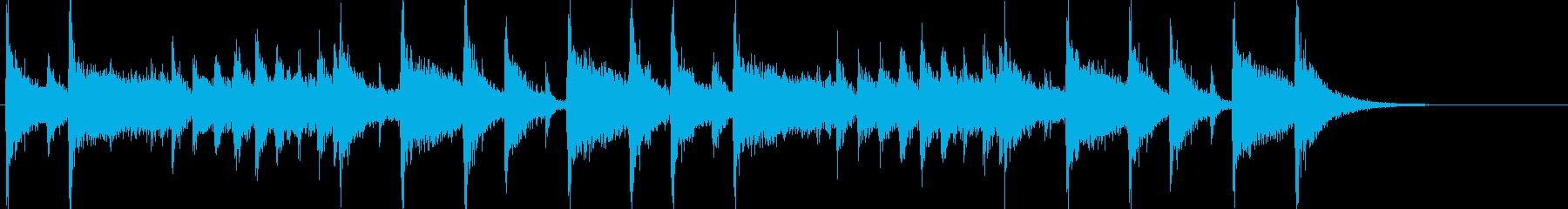 明るく陽気なフュージョンジングルの再生済みの波形