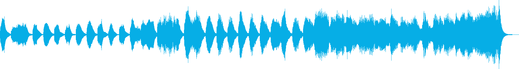 クラシックのバッハ風のジングル_ループの再生済みの波形