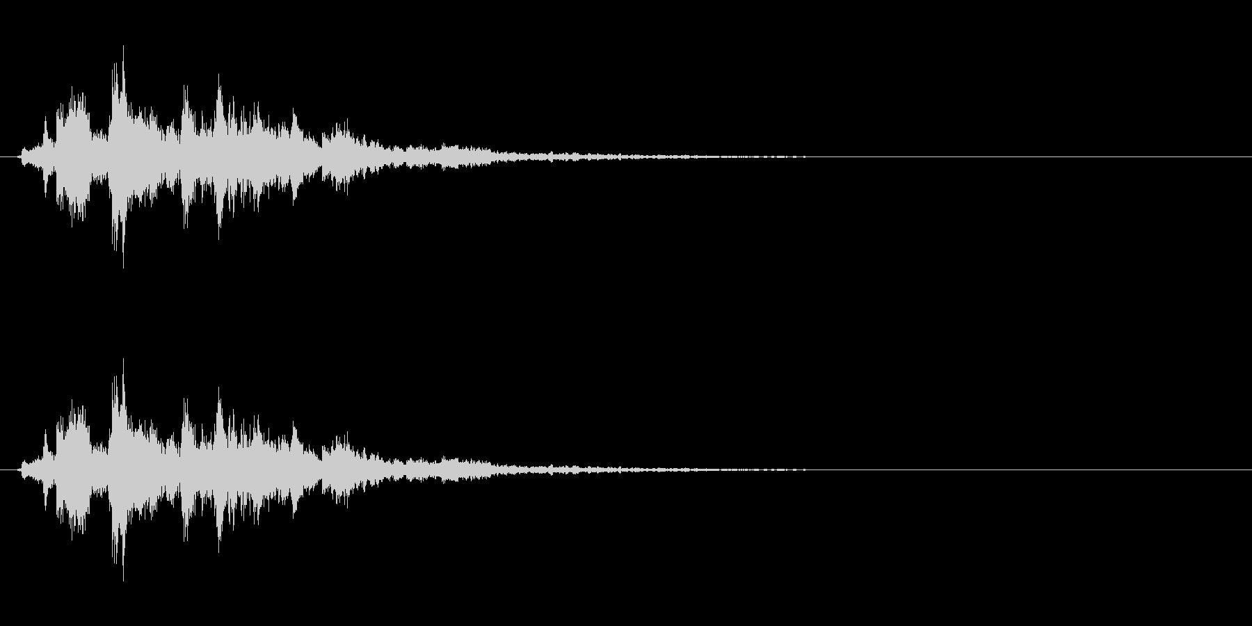 音侍「シャシャシャン」ツリーベルの振り音の未再生の波形