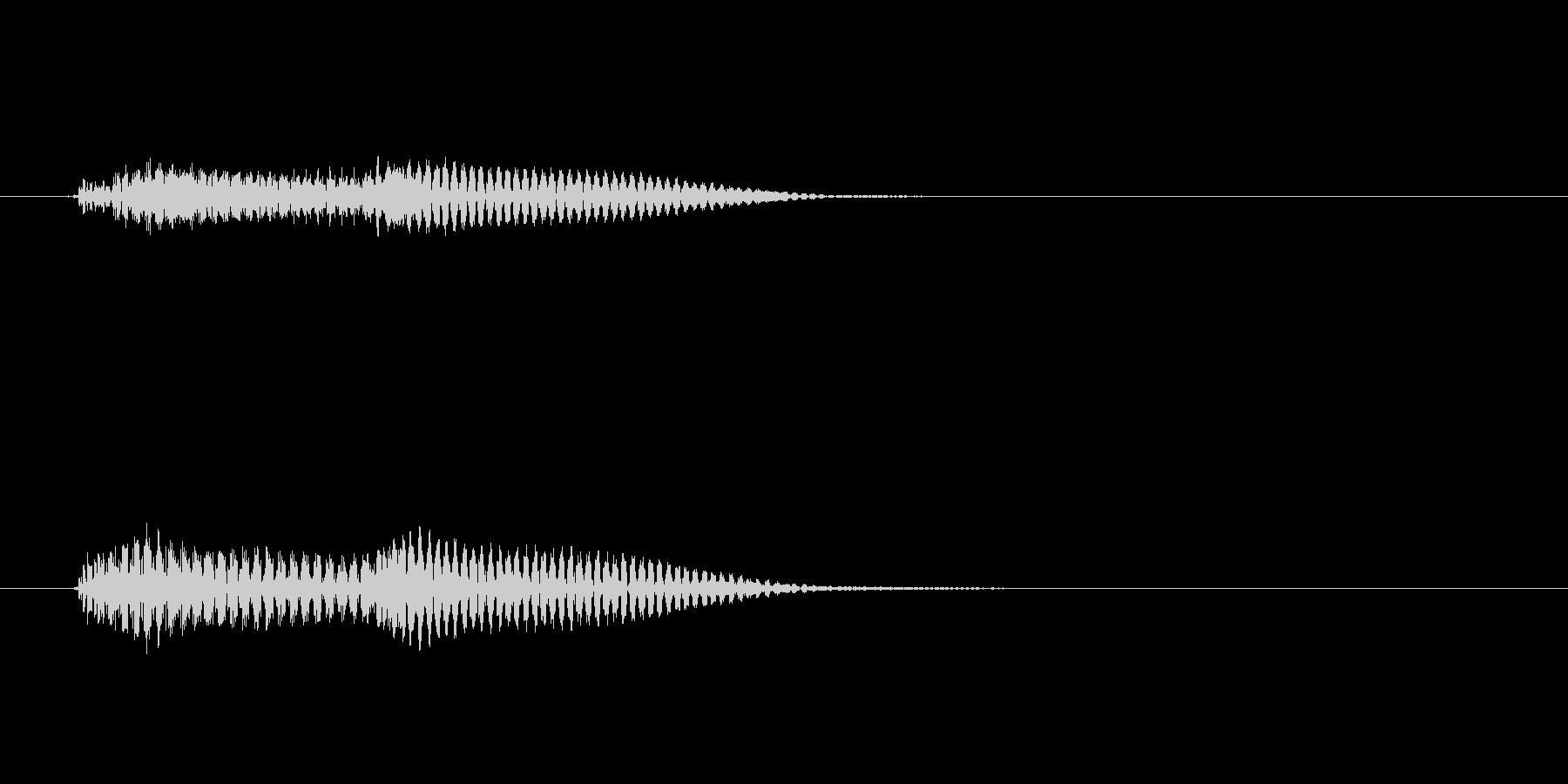 ピポン↑(ピアノエラー音)の未再生の波形