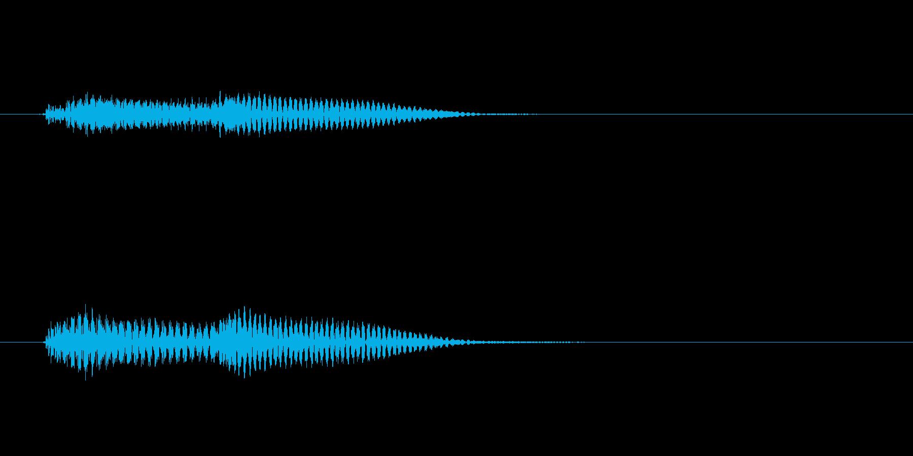 ピポン↑(ピアノエラー音)の再生済みの波形