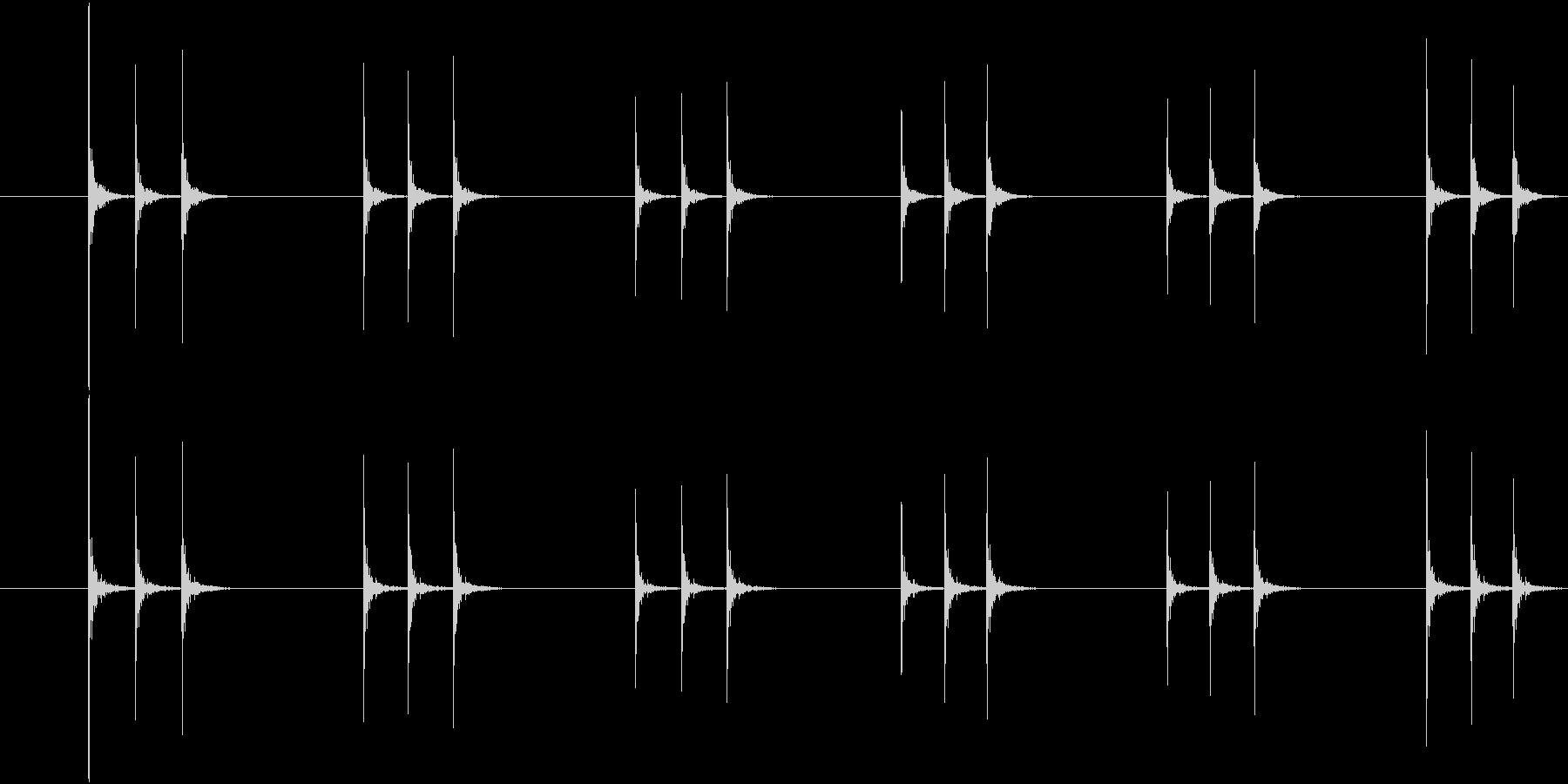 コンコンコン、連続したドアノック音-03の未再生の波形