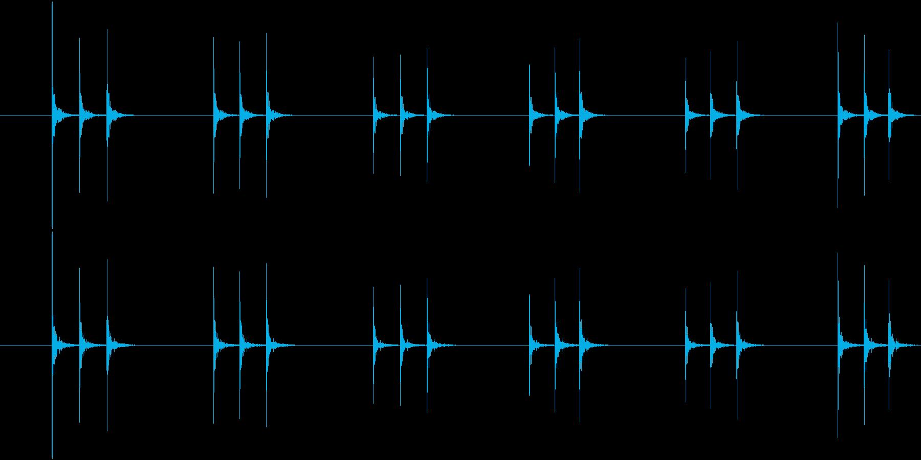 コンコンコン、連続したドアノック音-03の再生済みの波形