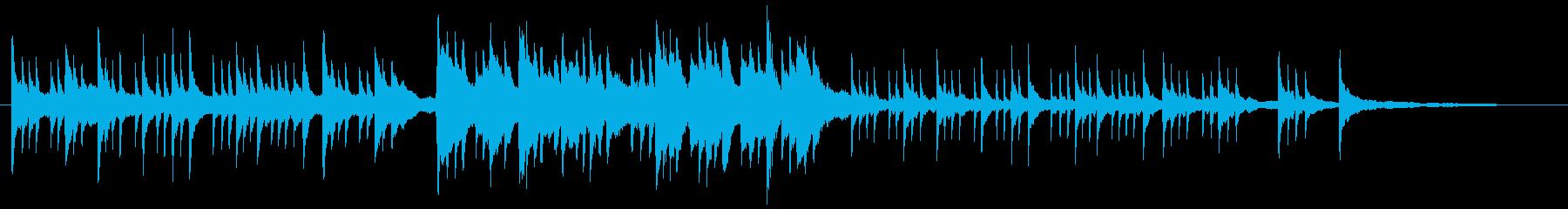 ピアノによるグレゴリオ聖歌の再生済みの波形