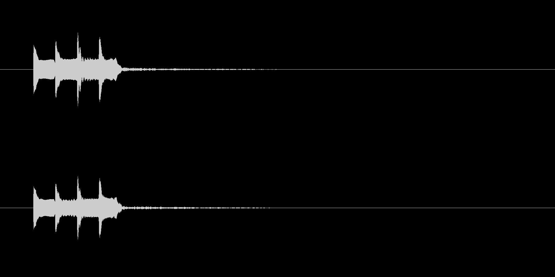 テレレレ~の未再生の波形