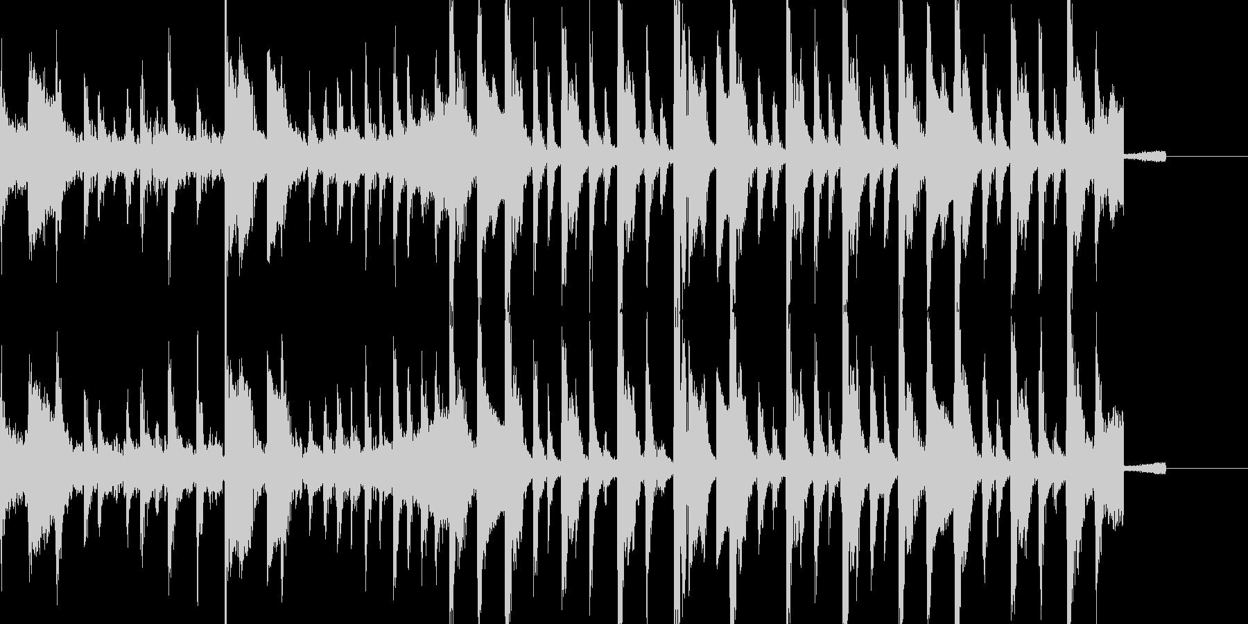 ほのぼのとしたイントロBGMの未再生の波形