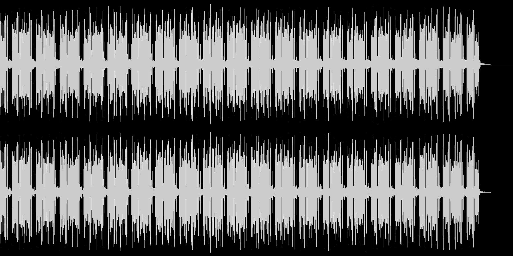 不穏で危険な雰囲気の漂うBGMの未再生の波形