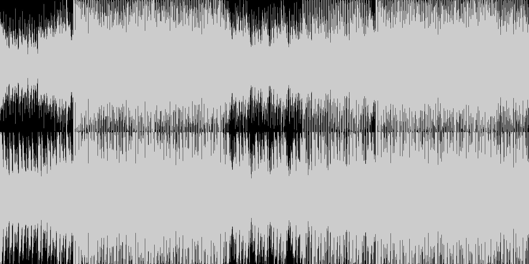 キラキラさわやかテクノポップの未再生の波形
