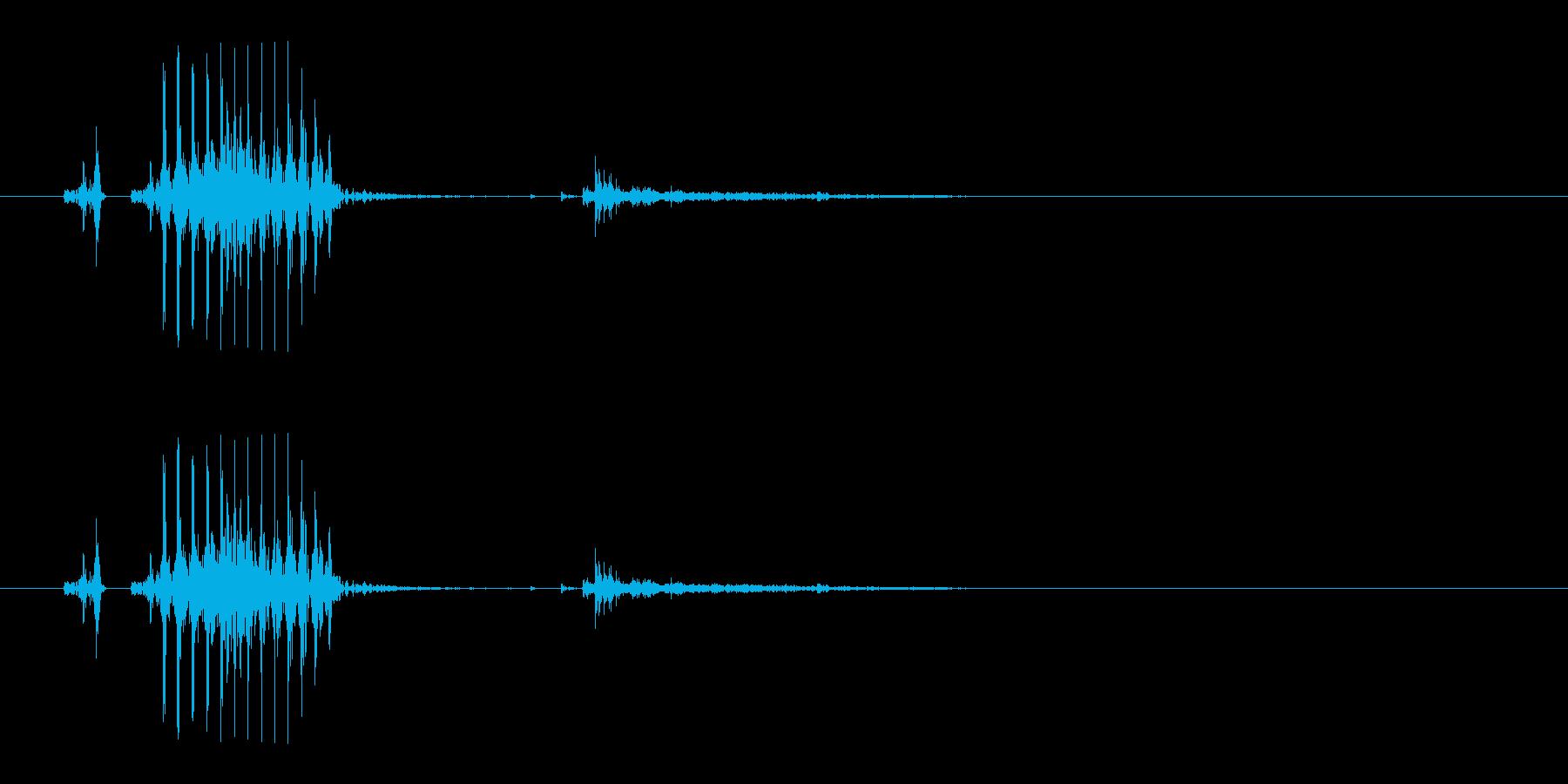 白(麻雀)の再生済みの波形