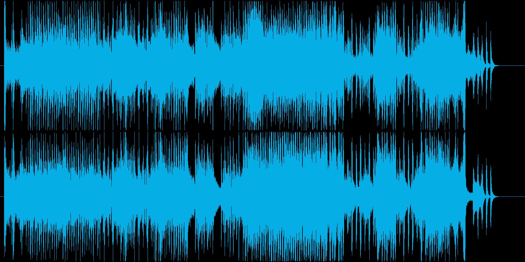 運動会・レースゲーム・競技用のBGMの再生済みの波形