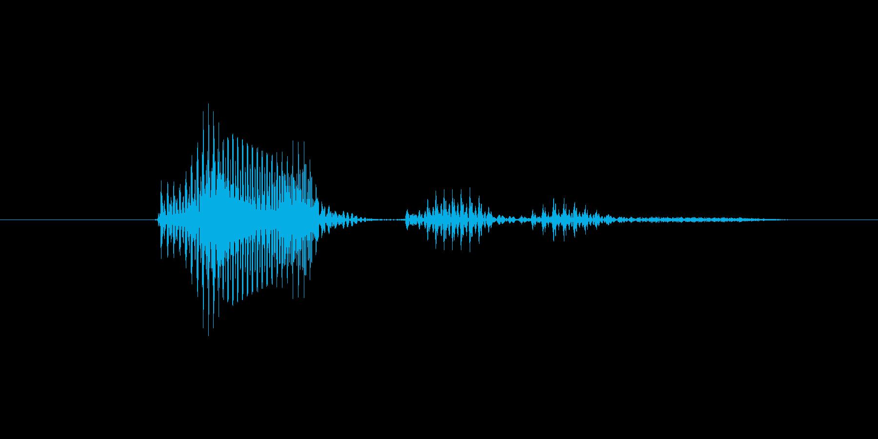 アウトですの再生済みの波形