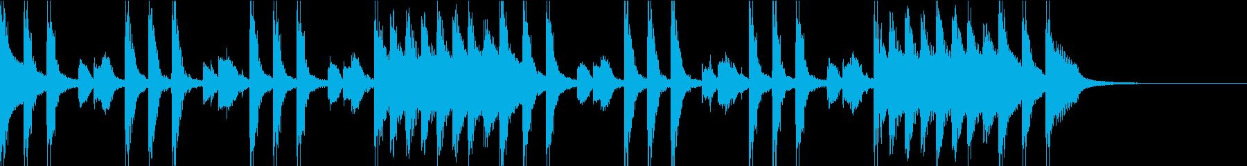 さわやか&軽やかなジングル01の再生済みの波形