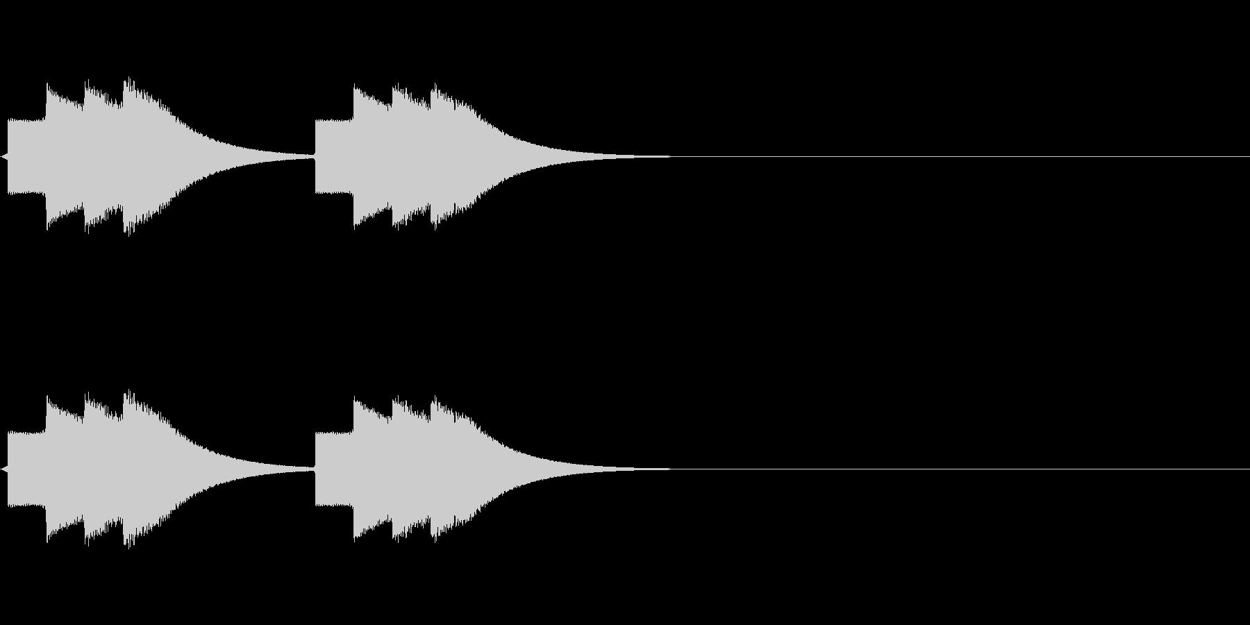速報テロップ風の音(ティロリロン)の未再生の波形