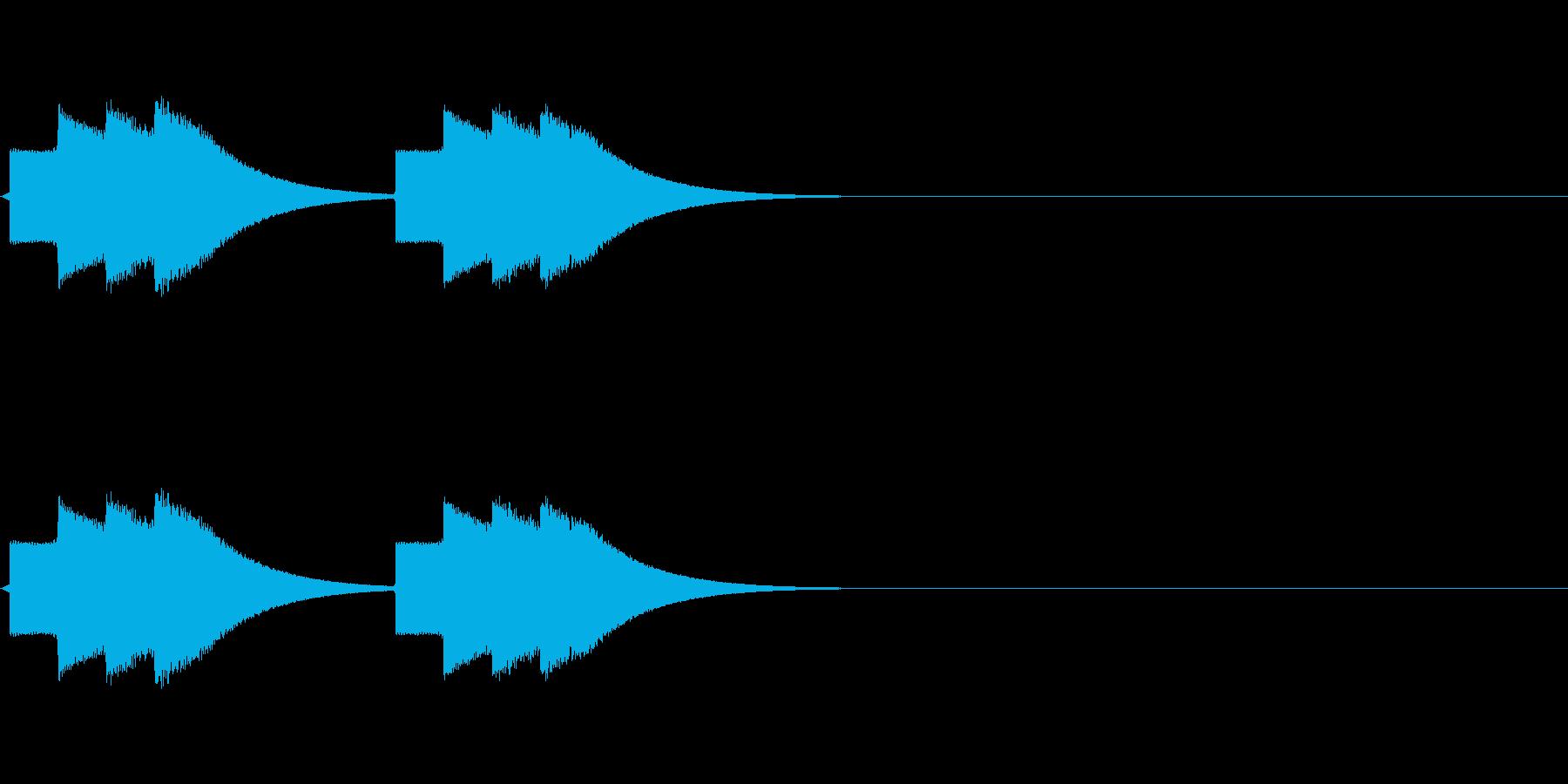 速報テロップ風の音(ティロリロン)の再生済みの波形