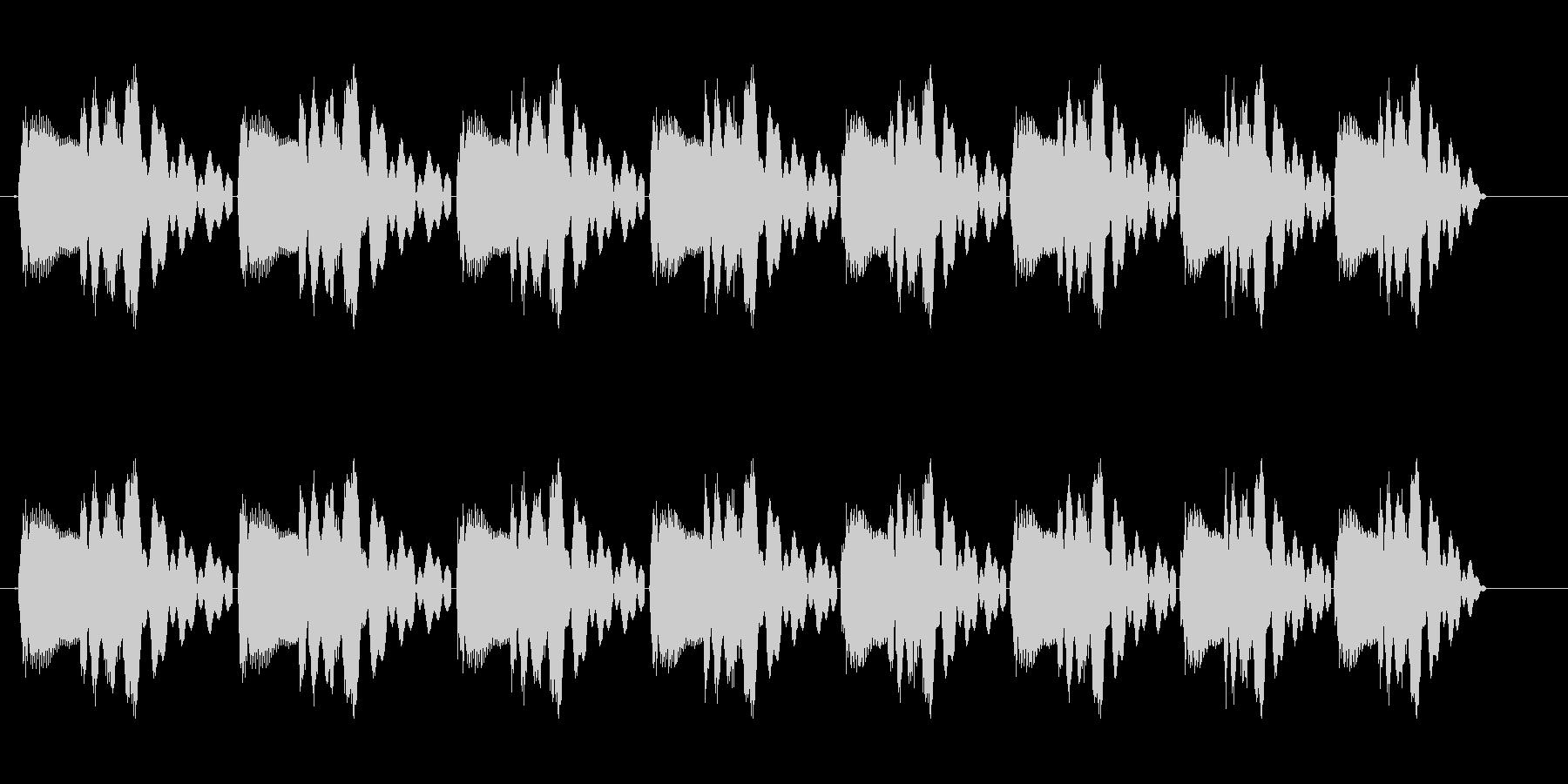 ピヨピヨピヨ(転がるようなコミカルな音)の未再生の波形
