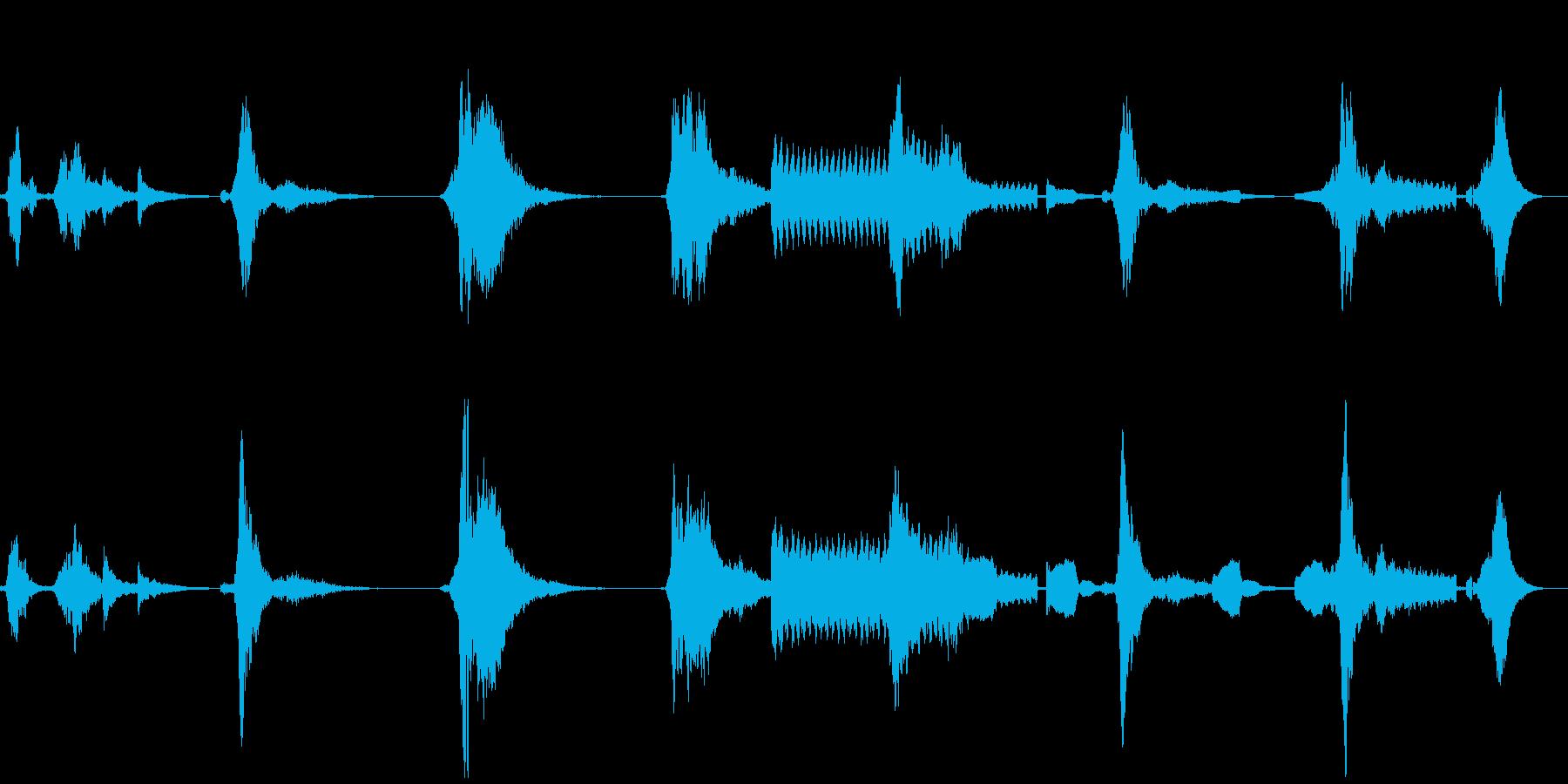 ホラー系 金属音etcの再生済みの波形