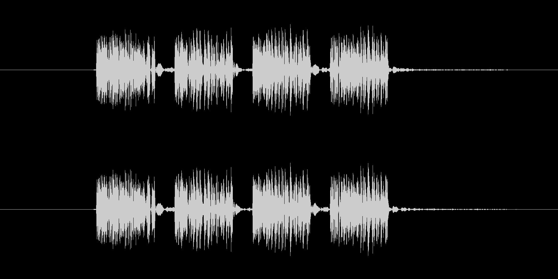 パンチ効果音 4連打 4発 ダダダダの未再生の波形