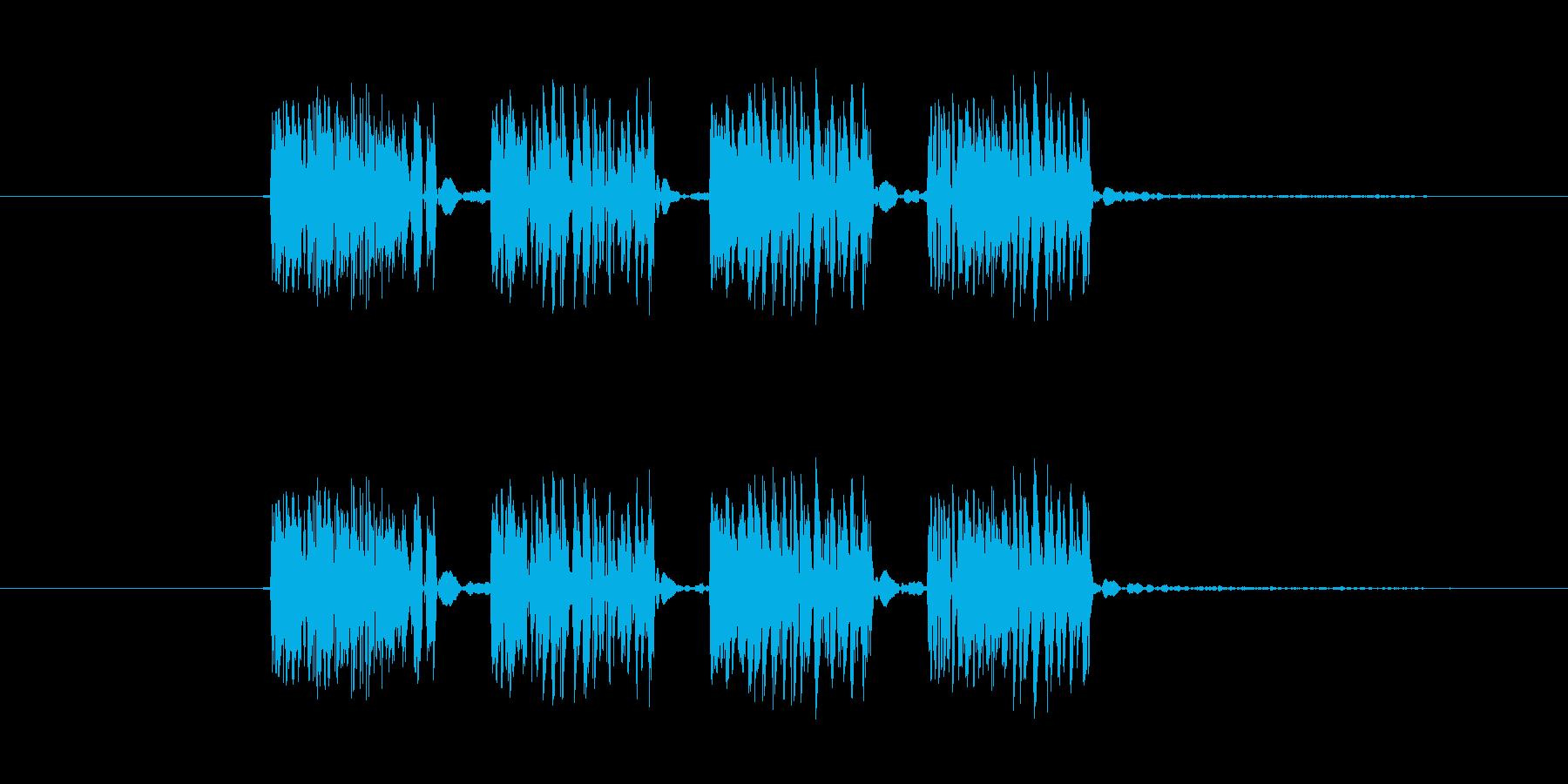 パンチ効果音 4連打 4発 ダダダダの再生済みの波形