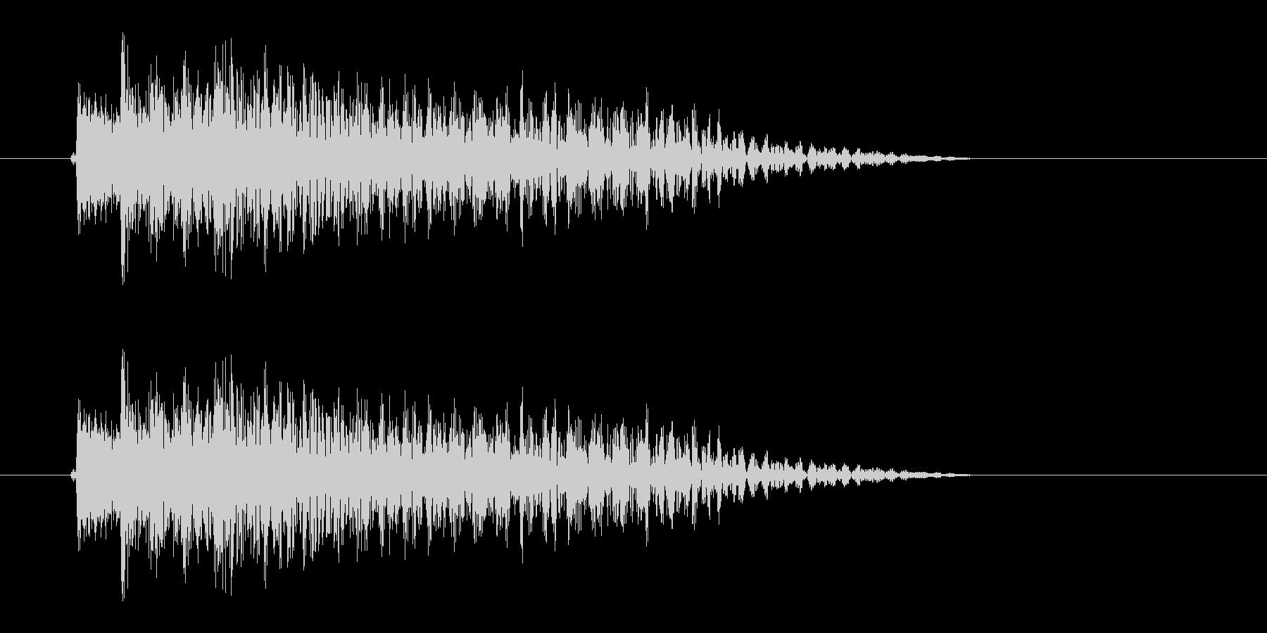 フォークギター細い1弦から太い6弦への未再生の波形