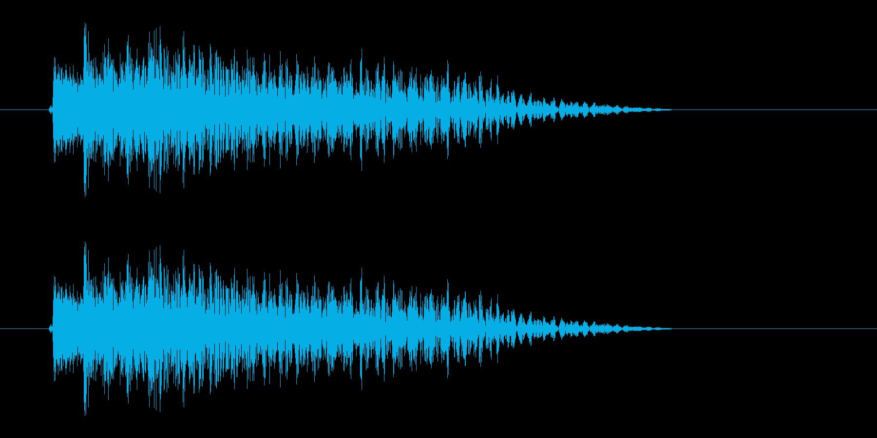 フォークギター細い1弦から太い6弦への再生済みの波形
